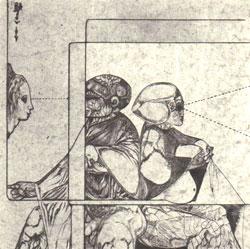 Un homme et une femme, à moitie dévêtus, sont dos à dos.